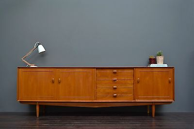Large Danish Style Vintage Retro Mid Century Teak Sideboard with Drawers