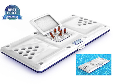 Inflatable Beer Pong Table with Cooler Floating Pool Lounger Games Beer Pong Set