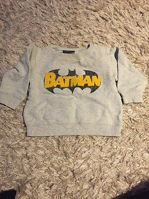 Baby Boys Next Batman Long Sleeved Top Age 9-12 Months