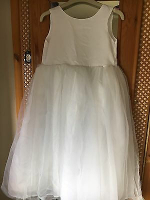 white bridesmaid /special/party dress Age 10