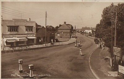 RP Postcard Of The Broadway, Swalecliffe, Kent