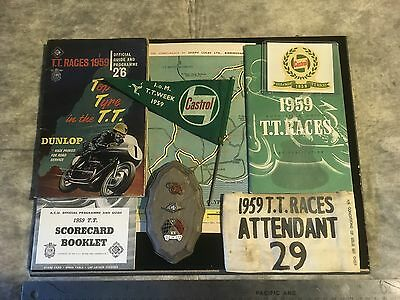 Original 1959 Isle Of Man Tt Race Collection-All Excellent -Bsa-Triumph-Ducati