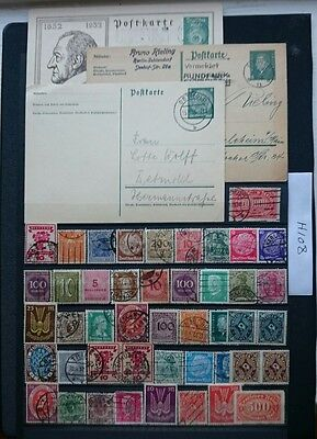 German Stamp/ Postcard Lot, Kaiser Reich / Weimar Republic.