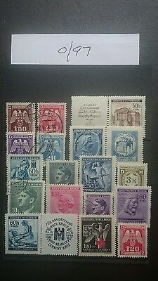 German Ww2 Stamps , Original, Bohemia And Moravia, Sudetenland, 1939 /45