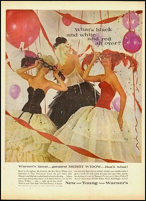 Vintage ad for Warner's Merry Widow in White, Black and Red Pepper (103112)