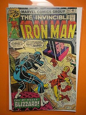 Marvel Comics Iron Man # 86 w/ Blizzard 1976 Vintage Old Comic Book