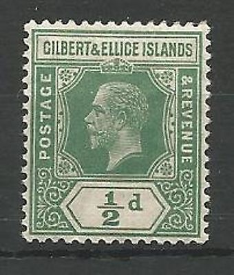 Gilbert & Ellice Islands 1912-24 SG12a 1/2d Yellow-Green Mounted Mint