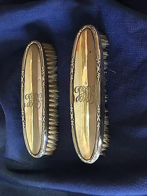 Pair Of Sterling Silver Backed Brushes.  Hallmarked 1918