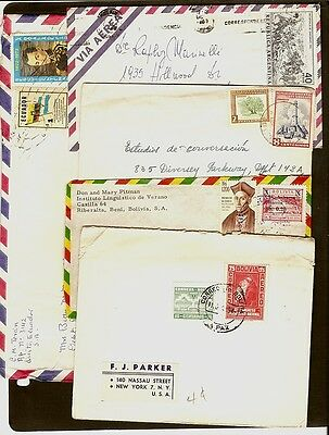 FOURTEEN Old South American Covers with good stamps, addressed to U.S.