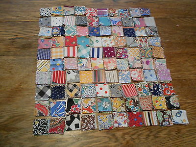 "Vintage Antique 1000 Postage Stamp Quilt Block Cotton 1 1/4"" X 1 1/4"" 1930s"