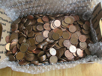 Bulk lot of 1400 Canada 1 Cent (Penny) Coins Ranging in Date From 1953- Present