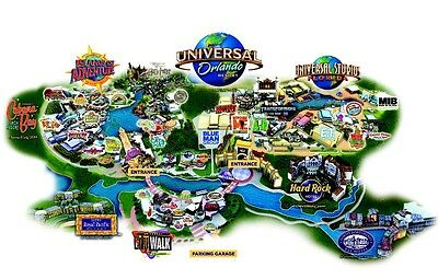 "Universal Studios Florida Travel - Souvenir - 2""x3"" Flexible Fridge Magnet #1b"