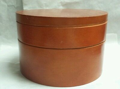"** Antique Sewing Box 3 Section -Piece Wood 10"" Clean Lid 1""-Center 2""-Bottom 4"""