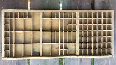 Vintage Wooden Printers Drawer Tray Wall Display Rack Letterpress Old A