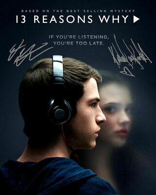 13 Reason Why Katherine Langford Dylan Minnette Signed Photo Autograph Reprint