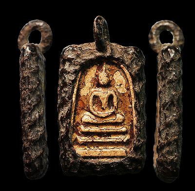 phra somdej LP toh wat rakang antique rare amulet Twist Rope Gold close holy #13