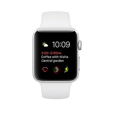 BRAND NEW SEALED BOX Apple Watch Series 1 38mm Silver Aluminum White Sport Band