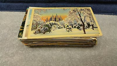 Large Lot of 1940's Postcards and Travel Picture Books Many Unused