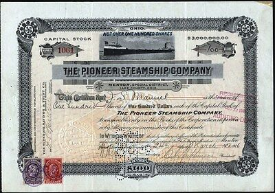 Pioneer Steamship Co, Mentor, Special District, Lake County, Ohio, 1916 Stock