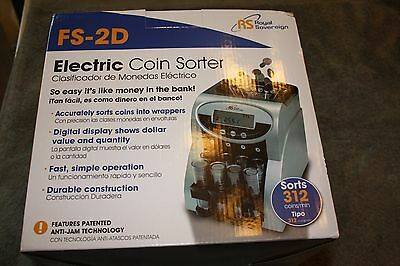 Royal Sovereign FS-2D Fast Sort Electric Coin Sorter (New)