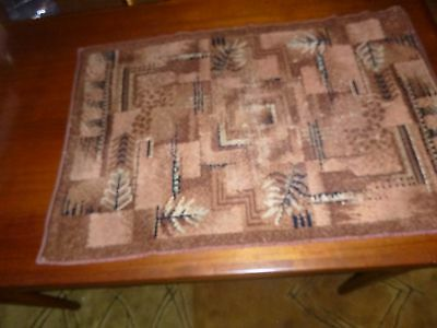 Art Deco Classic Geometric Des.  Vintage Art Deco Small Area Rug Bigelow Weavers
