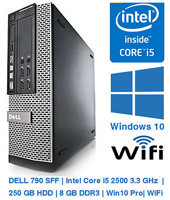 DeLL 790 Optiplex | Core i5-2500 3.3 GHz | 250 GB HDD | 8 GB DDR3 | Win10 | WiFi