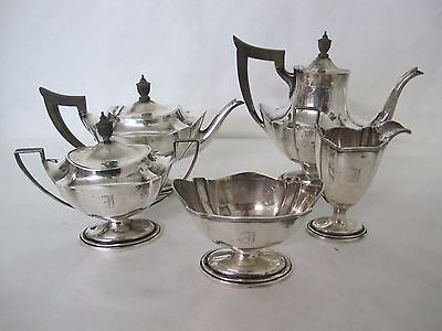 Gorgeous Gorham Plymouth 5 Piece Sterling Tea Set