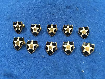 Lot Of 10 Vintage US Army 2nd Infantry Division Pins