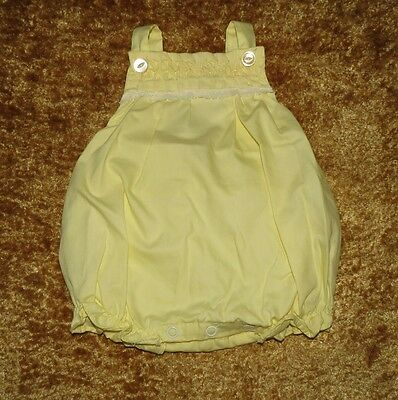 Sweet Vintage Baby Girls Plastic Lined Bubble Romper Sunsuit Approx 3-6 M Evc