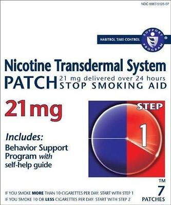 OCT 2018 EXPIRE NICOTINE TRANSDERMAL SYSTEM STEP 1 (07) PATCHES @ 21mg