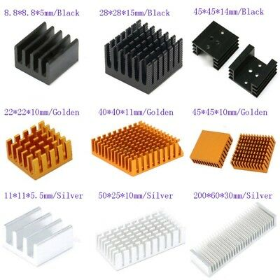 8.8mm-200mm Aluminum Heatsink Heat Sink Thermal Cooling Fin Blade 3-Color,CPU IC