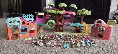 Littlest Pet Shop Huge Lot LPS Dogs And Animals