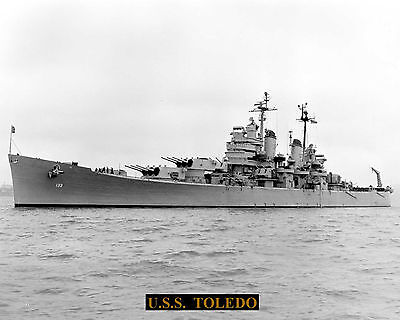 United States Navy Cruiser Uss Toledo Ca133 With Bonus Stat Sheet