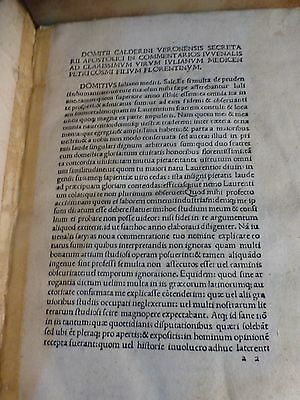 Incunabula Year 1480 Incunable Book Juvenal Satires Juvenalis Satyrae