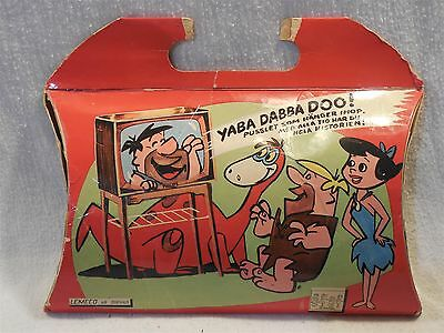 Flintstones 1960's Lemeco AB Wooden Puzzle w/Carrying Case Box from Sweden