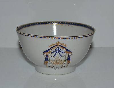 Antique 18th C Chinese Export Armorial Cup Tea Bowl