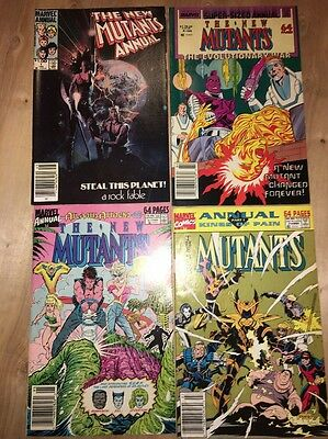 New Mutants. Lot Of 4 Annuals  1 4 5 7. 1984-1991