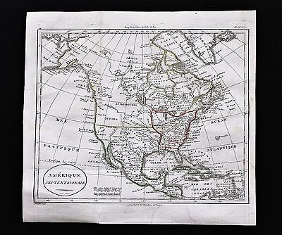 1805 United States Map Texas Louisiana Terrritory Kaskaskia Spanish Florida RARE