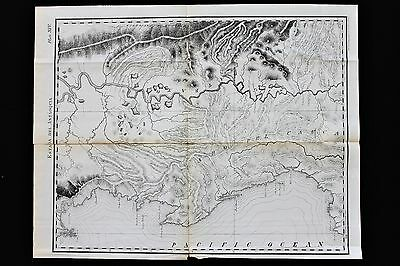 1874 Darien Expedition Canal Panama Map Estada Antaoquia Atrato EXRARE ORIGINAL