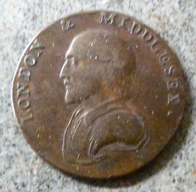 1799 LONDON and MIDDLESEX HALF PENNY