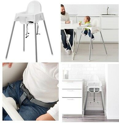 Baby Highchair With Safety Straps Ikea Antilop Baby High Chair New