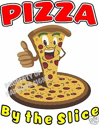 """Pizza By the Slice Decal 14"""" Concession Restaurant  Food Truck Menu Sign Sticker"""