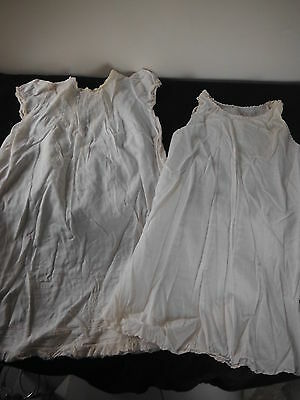 Vintage BABY CHRISTENING DRESS and SLIP or DOLL Clothing