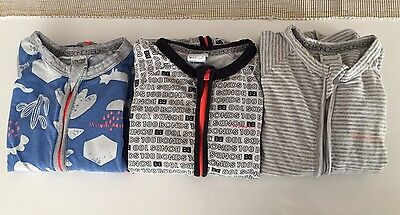3 X Bonds Wondersuits, Bodysuit/ Jumpsuits Size 2 (18-24 Months) Boys Zip Up