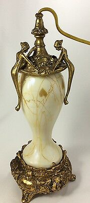 Beautiful Vintage Art Deco 3 Nymphs Perfume Lamp