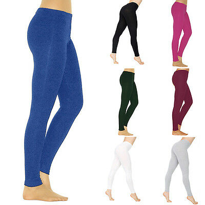 Women's Sports Yoga Fitness Leggings Running Gym Cotton High Waist Pants S-3XL