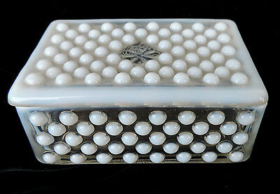 Opal Glass Covered Box! Very Nice!! Vintage Antique