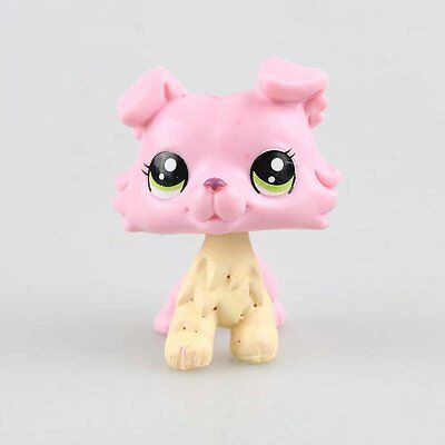 LPS Littlest Pet Shop Green Eye Cute Lion Pink Animal Figure Boy Girl Dolls Toys