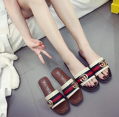 Buy One Get One Free New Women Ladies Summer Sandals Slippers Shoes US size 7-8