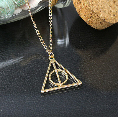 Fashion Women Film Movie Harry Potter Metal Gold Silvery Necklace Pendant Gift